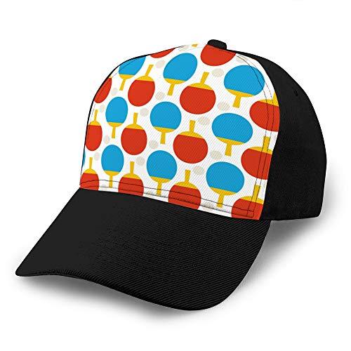 Contraste Ajustable Color Hip Hop Gorras de béisbol Planas sin Costuras Deporte Tenis Ping Pong patrón Deportes Snapback