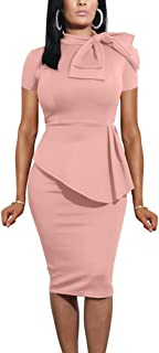 Best pink ruffle party dress with bow Reviews