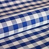 Hans-Textil-Shop Stoff Meterware Karo 1x1 cm Blau Polyester