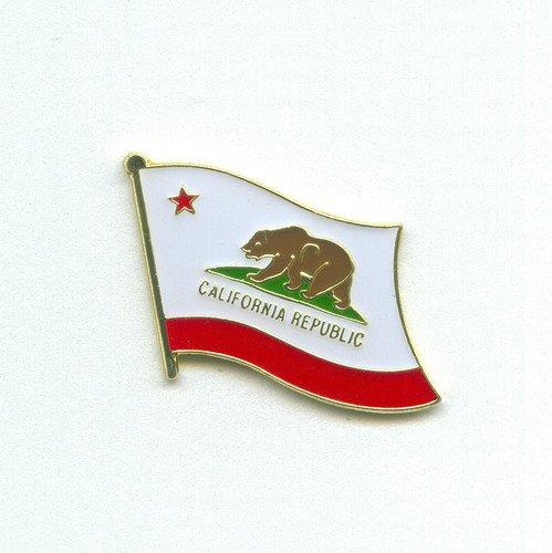 USA Kalifornien California Los Angeles Flag Badge Flaggen Pin Anstecker 0830