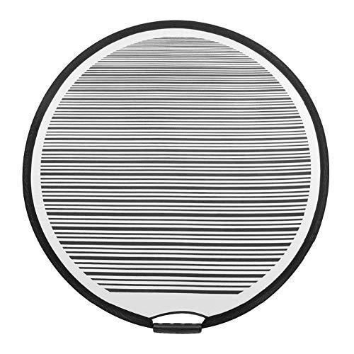 Zchui Reflektorplatte, tragbar, für Kratzer, professionelles Autowerkzeug, Streifenlinie, Fahrzeug, kreisförmig, für Dellenerkennung, lackfreie Reparatur, langlebig