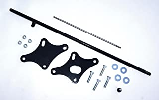 Stainless Steel Black Powder Coat Extension Depot ED-1300-6 Yamaha V-Star 1300 6 Forward Control Extension Relocation Kit
