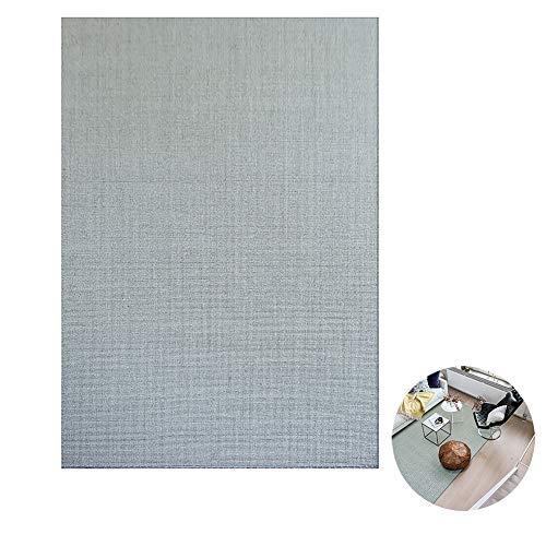 Grauer Sisal-Teppich, Wohnzimmer-Fußmatte, Sommer-Naturfaserteppiche für Teetisch/Schlafzimmer/Balkon/Arbeitszimmer, rutschfest (Color : Non-Woven, Size : 80x120cm)