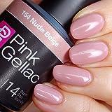 Esmalte de uñas Gel Rosa Gellac color Nude Beige de 15ml