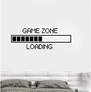 Huanxidp Wall Stickers Game Zone Computer Gaming Wall Stickers Vinyl Wall Decal Decor Loading Video Game Wall Tattoo Remov...