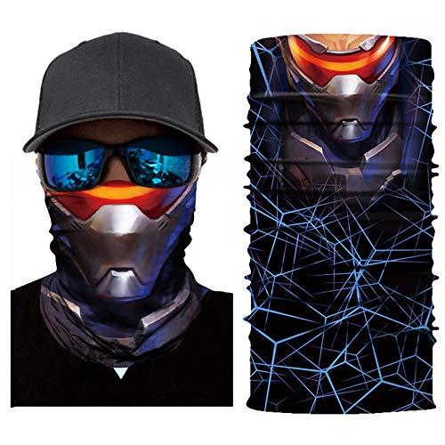 Sturmmaske Multifunktionstuch Gesichtsmaske Motorradmaske Sturmmaske Maske für Motorrad Ski Snowboard Snowboard Fahrrad Bergsteigen Trekking Skateboarden Angeln Geheimnisvoll Skull (E)