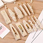 Beauty Shopping 12 Pcs Pearl Hair Clips Large Hair Clips Pins Barrette Ties Hair for Women Girls