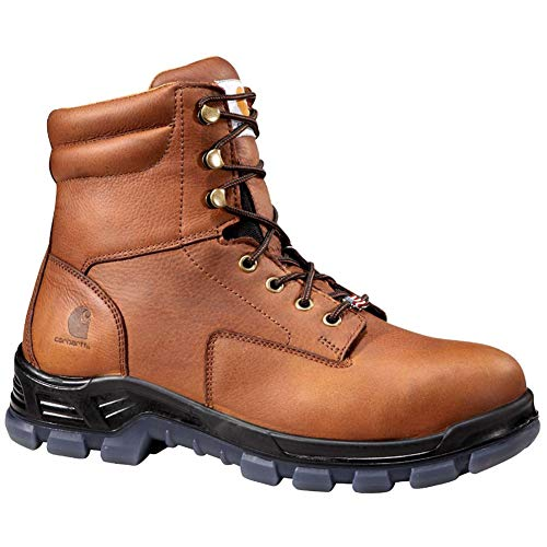 "Carhartt Men's CMZ8340 Made in USA 8"" Comptoe Work Boot, Brown, 10.5 W US"
