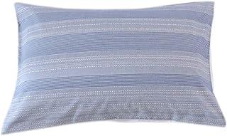Lausonhouse 枕カバー, 綿100%先染めストライプピロケース 43X63CM 2枚セット