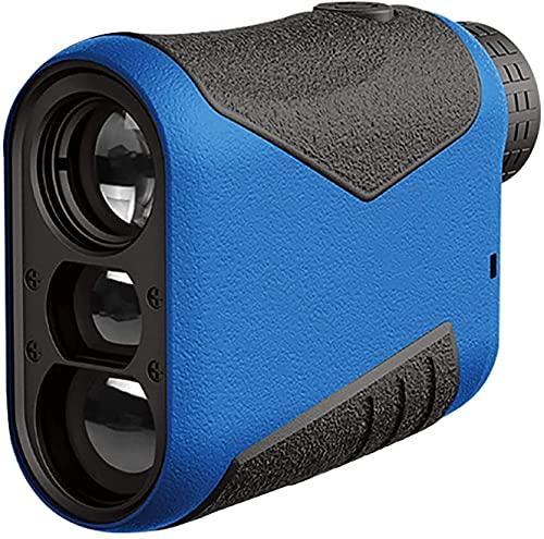YUYANDE Finder de Rango Multifuncional, buscador de Gama láser de Golf de Caza, magnificación 6X, Bloqueo de Bandera de Alta precisión de 800 Yardas, para Caza de Golf (Color : Blue)