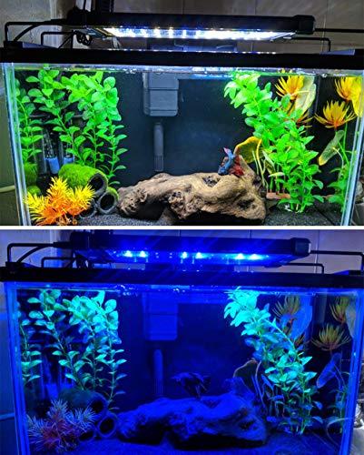 Nicrew Aquarium LED Beleuchtung, LED Aquarien-Aufsetzleuchte Passend für Aquarien 28 bis 50 cm, 6W - 5