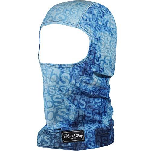 BLACKSTRAP Sock Hood Balaclava Face Mask, Dual Layer Cold Weather Headwear for Men and Women, Logo Cobalt
