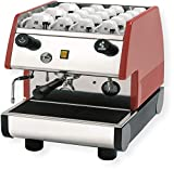 la Pavoni PUB 1M-R 1 Group Commercial Espresso/Cappuccino Machine, 22' x 15' x 21', Red