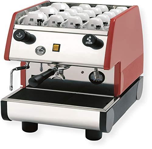 """la Pavoni 1 Group Commercial Espresso/Cappuccino Machine, 22"""" x 15"""" x 21"""", Red"""