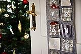 HEITMANN DECO Adventskalender zum Aufhängen und selbst Befüllen - Filz-Adventskalender - Grau, Beige, Weiß