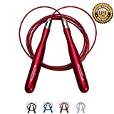 Goothdurs Speed Jump Rope with Ball Bearings -Tangle-Free Adjustable & Self-Locking Skipping Ropes...