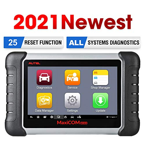 Autel MaxiCOM MK808 Scanner Car Diagnostic Scan Tool, 2021 Newest Same with MX808, All System Diagnosis and 25+ Service, ABS Bleed, Oil Reset, EPB, SAS, DPF, BMS, Throttle, Injector Coding