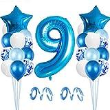 Globo de Cumpleaños 9 año, Globo 9 Año, 9 Cumpleaños Niño, Globo Numero 9 Gigantes, 9 Años Cumpleaños, Number Balloons, Globos Decoracion Bautizo Comunión Fiesta Cumpleaños
