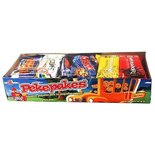 Gamesa Cookies Pekepakes: Emperador, Chokis, Mini Mamut, Arcoiris - Surtido Rico Pa´Llevar - 11 Packages