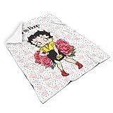 Generic - Coperta quadrata di marca Betty Boop, comoda per bambini e adulti, da viaggio, grande e...
