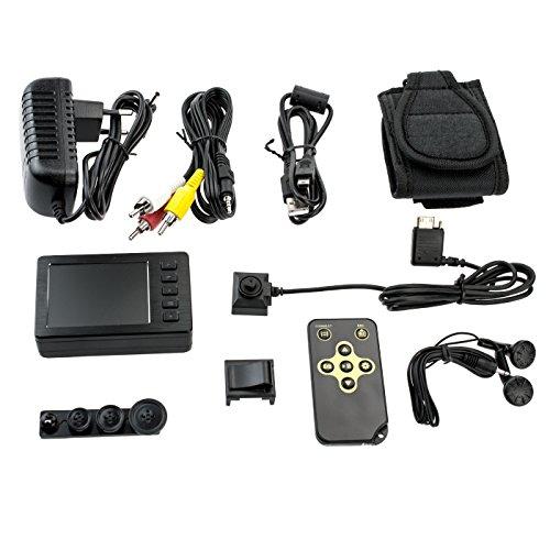 KOBERT GOODS mini-bewakingscamera 750P met draagbare mini-HD-videorecorder politie-body-cam met 2,7 inch LCD-videorecorder voor video- en foto-opnames met geluid (incl. afstandsbediening)