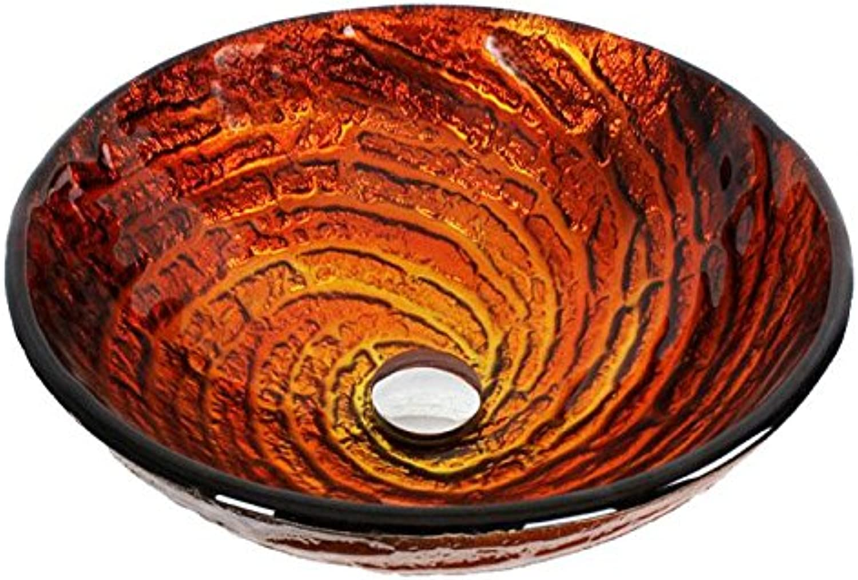 FANGYAO Modernes Bad Glas Becken Wash Waschbecken (420  145  19 mm) , single basin