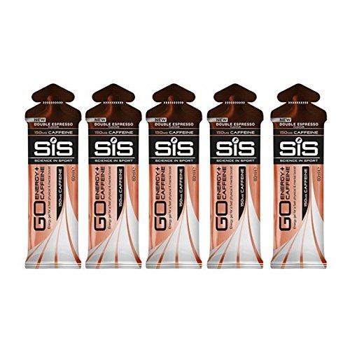 SIS Go Plus Caffeine Energy Gel 60ml - Double Espresso (Pack of 5)