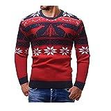 N\P Suéter delgado de Navidad para hombre Cardigan Slim Fit Jumpers Knitwear