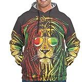 YOUYO Spark Sudaderas para hombre Tiger Lion AnimalVintage - con bolsillo frontal al aire libre Sudaderas blanco 5xl