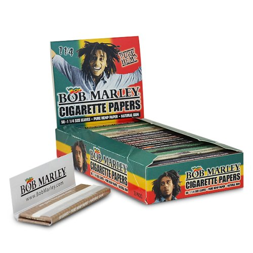 Bob Marley 1 1/4 Cigarette Rolling Papers 25 Booklets