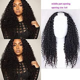 Foxys' Hair 130% Density Human Hair Upart wig Peruvian U Part Wig for Black Woman (12 inch)
