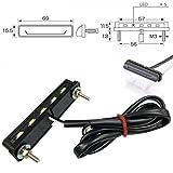 LED-Kennzeichenbeleuchtung Nice schwarz E-geprüft Universal Motorrad Roller...