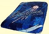 Los Angeles Dodgers Blanket - King Size Mink Raschel Plush 84 x 94