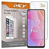 REY 3X Protector de Pantalla para TCL 10L, Cristal Vidrio Templado Premium