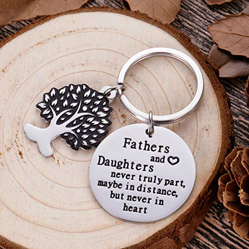 Fathers Day Gifts for Dad Keychain Birthday Christmas Gifts for Daddy Step Dad from Daughter Kids Wife Key Ring Father in Law Father of The Bride Wedding Anniversary for Dad Men Him Stocking Stuffers