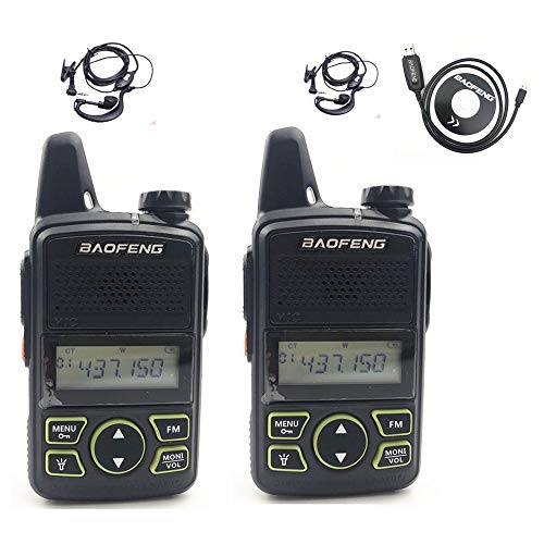 BAOFENG Original BF-T1 Mini Walkie Talkie UHF 400-470mhz Portable Two Way Radio (1 Pair)