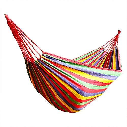 Hangmat MYKK Hangmat voor 2 personen 200 cm * 150 cm tot 200 kg Rood 200 * 150 CM Zoals afgebeeld