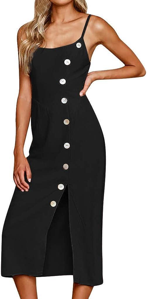 HHmei Womens Button Off Shoulder Party Bodycon Slim Long Dress