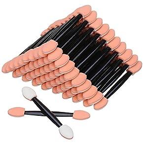 Akstore 100PCS Disposable Dual Sides Eye Shadow Sponge Applicator Eyeshadow Brushes Makeup Brush