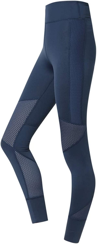 WYZBD Yogahosen mit hoher Größe und schnell trocknenden, atmungsaktiven Fitnesshosen mit hochelastischen Leggings und Hüfthosen,Blau,S