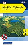 Outdoorkarte 20 Hohe Eifel - Vulkaneifel 1 : 35.000: Wandern, Rad. Nürburgring, Daun, Gerolstein (Kümmerly+Frey Outdoorkarten Deutschland)