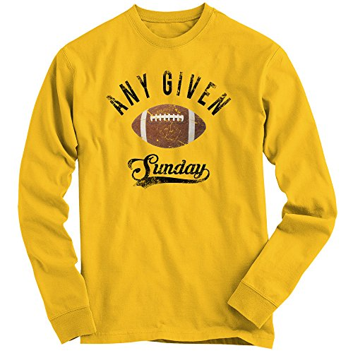 Shirt Happenz An jedem verdammten Sonntag Sweatshirt |Herren | Football Pulli | Super Bowl | Play Offs | American Sports | Fanshirt | Pullover, Farbe:gelb (Sunflower F324);Größe:XL