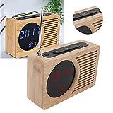 Radio reloj despertador, reloj despertador electrónico multifuncional Puerto USB para cargar para adultos para cafetería para niños para oficina para dormitorio para sala de estar