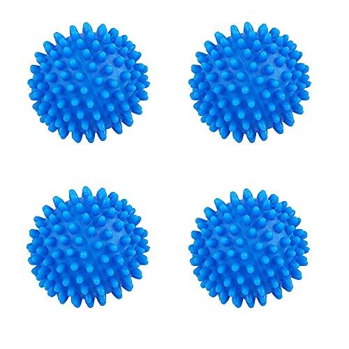 Bolas para la colada, bolas para secadora reutilizables, para lavadora y secadora, para suavizante natural, antiestático, velocidad de secado (4 unidades)