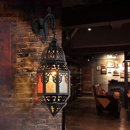 Wandlamp van ijzer, Marokkaanse muur, voor hotel, hal, woonkamer, slaapkamer, Europees huis.