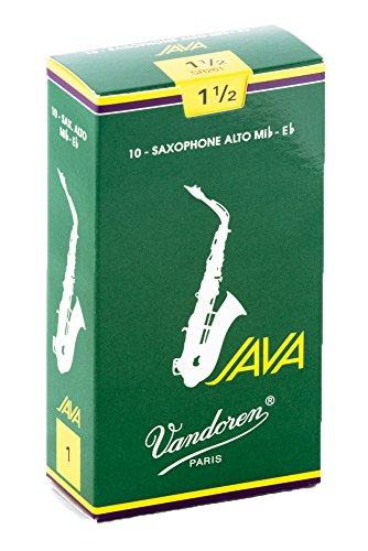 Vandoren SR2615 - Caja de 10 cañas java n.1.5 para saxofón alto