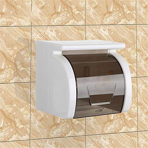 Feixunfan Tissue Box Holder Toilettenpapierhalter Badezimmer-Befestigungs-Kunststoff Rollenhalter Mit Handy Storage Rack für Badezimmer Waschtischplatten (Color : Gray, Size : 18x11x5cm)