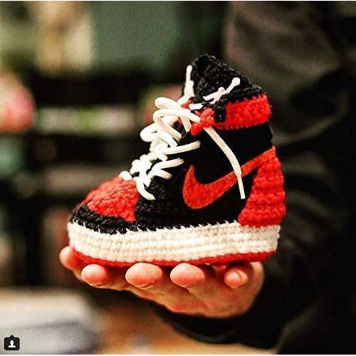 9d861c4517ba2 Amazon.com: Handmade Air Jordan1 Newborn Crochet Knitted Sneakers ...