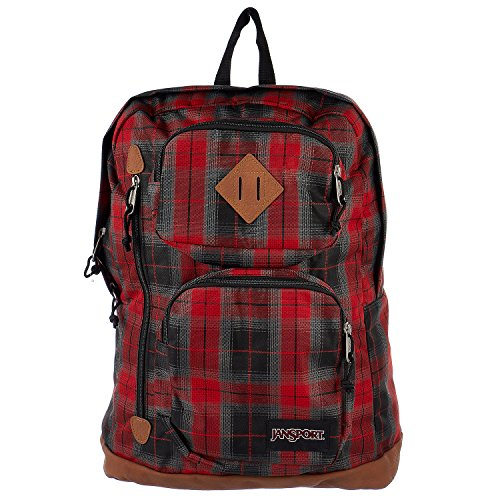 JanSport Classic Houston Backpack Red Tape Plaid