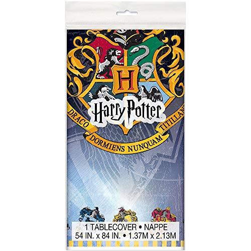 Unique Party - Mantel de Plástico - 2,13 m x 1,37 m - Diseño de Harry Potter (59103)